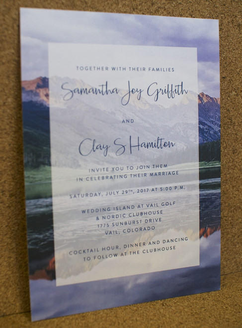 Samantha and Clay: Wedding Invitation