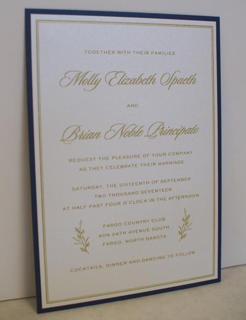 Molly and Brian: Wedding Invitation