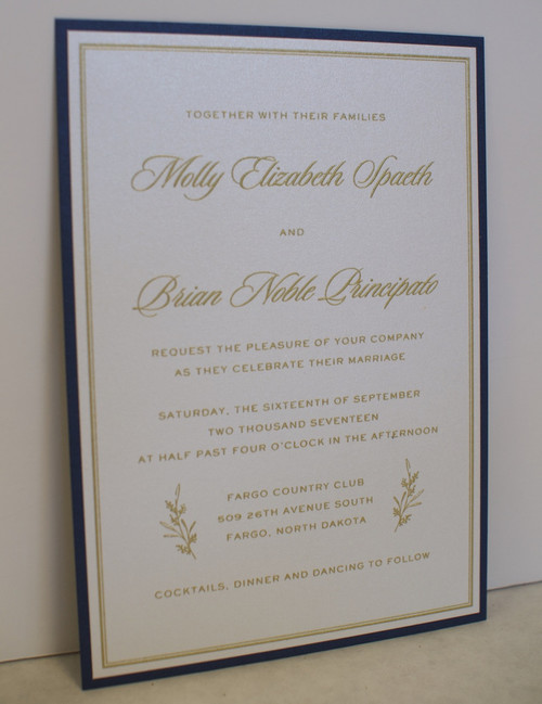 Molly and Brian: Wedding Invitation