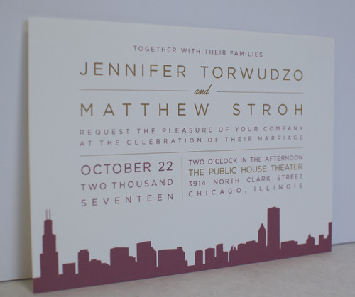Jennifer and Matthew: Wedding Invitation