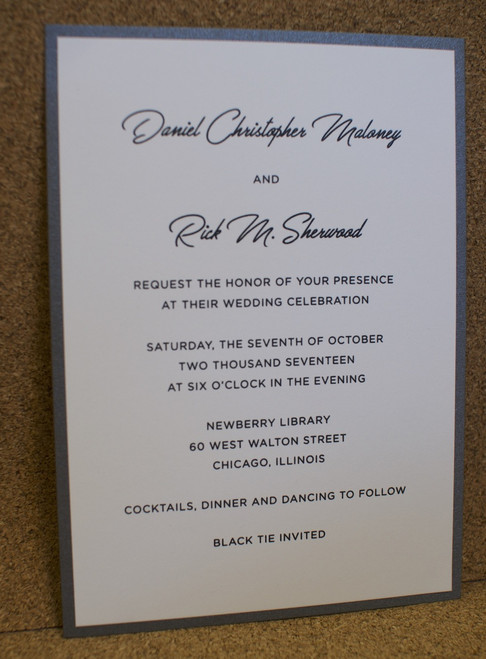 Daniel and Rick: Wedding Invitation