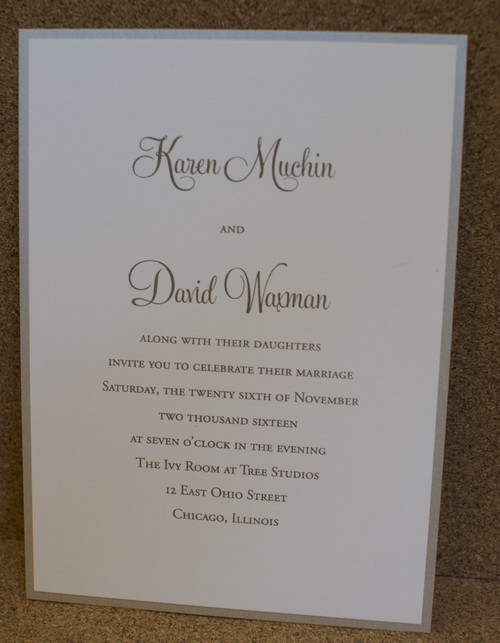 Karen and David: Wedding Invitation