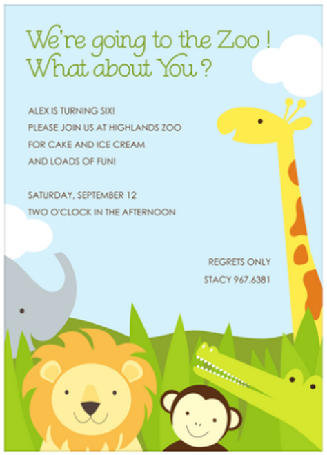 Safari Party Invitation