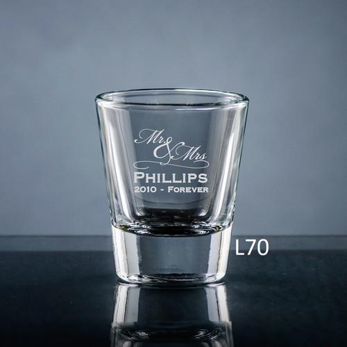 Matrimony Shot Glass- 3 Fonts