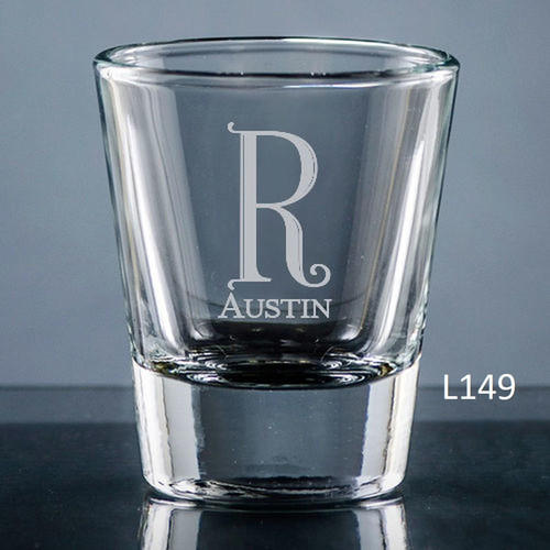 Fortaleza Shot Glass - 10 Fonts