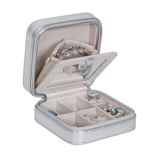 Silver Travel Jewelry Box