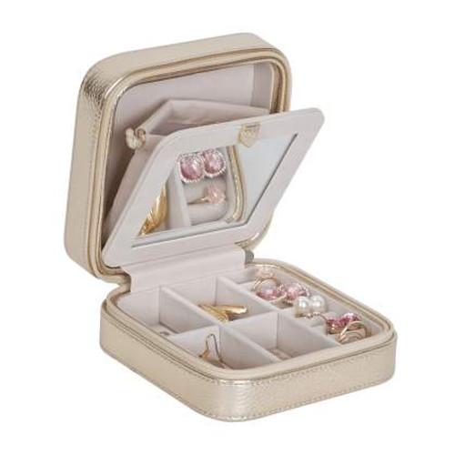 Gold Travel Jewelry Box