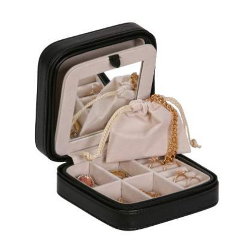 Black Travel Jewelry Box
