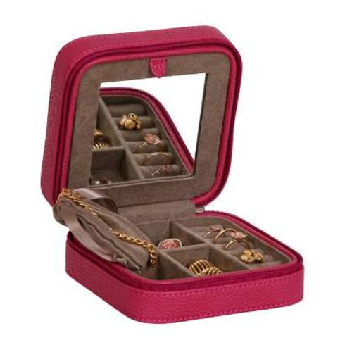Magenta Travel Jewelry Box