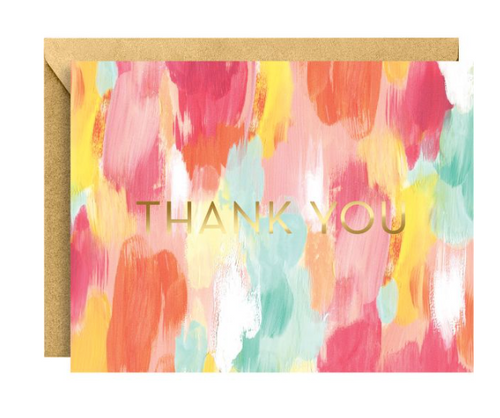 Brushstroke Foil Thank You Note