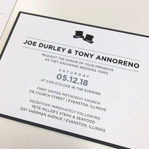 Joe and Tony: Wedding Invitation