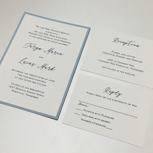 Taryn and Lucas: Wedding Invitation