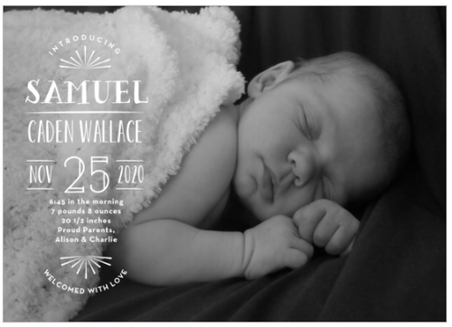 Bright Start Birth Announcement