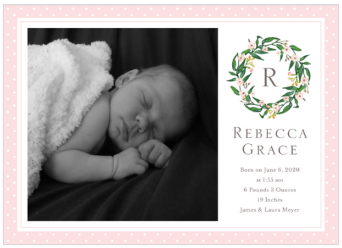Tiny Crown Birth Announcement