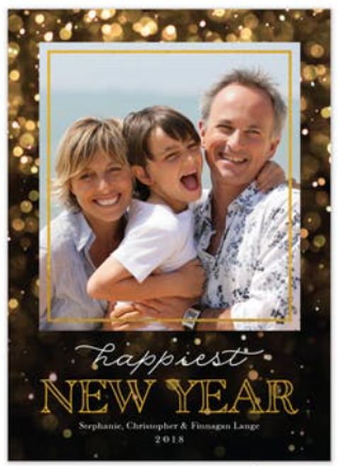 Happiest New Year Foil Holiday Card