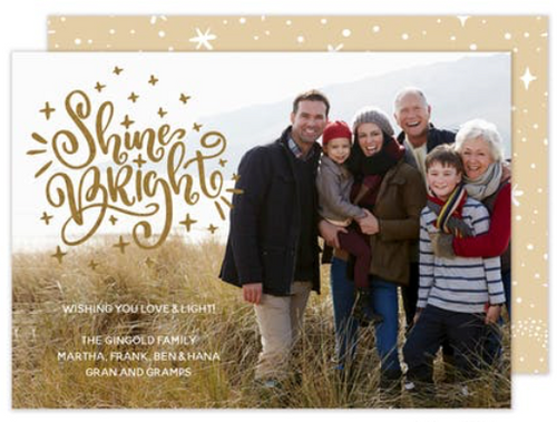 Shine Bright Foil Holiday Card
