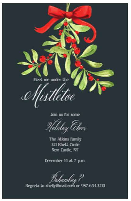 Mistletoe Holiday Event Invitation