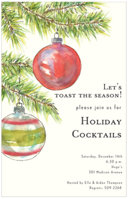Fir Branches Holiday Event Invitation
