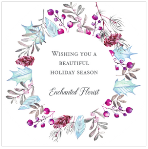 Enchanted Flora Holiday Greeting Card