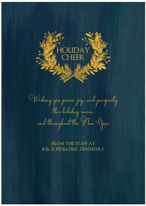 Gold Wreath Flat Greeting Card