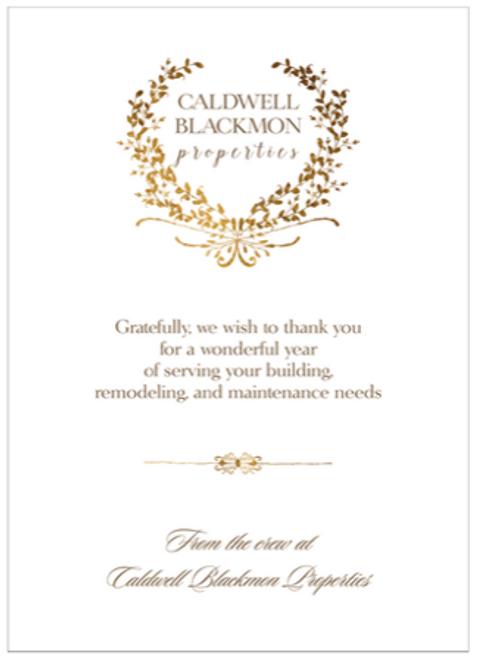 Golden Wreath Flat Greeting Card