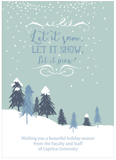 Let It Snow Holiday Flat Greeting Card