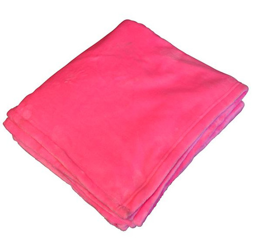Hot Pink Flannel Fleece Throw Blanket