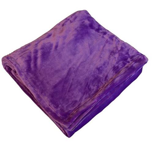 Purple Flannel Fleece Throw Blanket