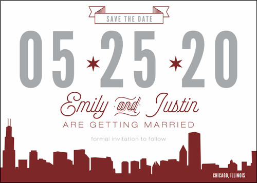 Typography Skyline: Save the Date