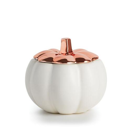 Rustic Pumpkin Ceramic Candle