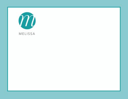 Melissa Bordered Flat Note