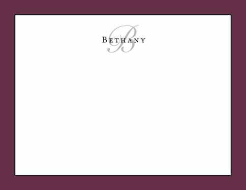 Bethany Bordered Flat Note