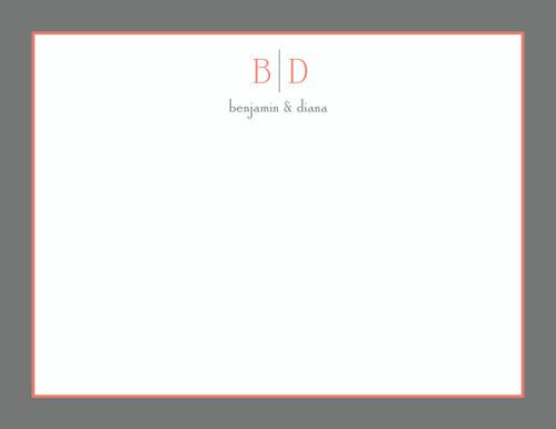 Benjamin and Diana Bordered Flat Note