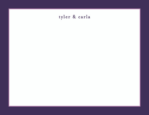 Tyler and Carla Bordered Flat Note