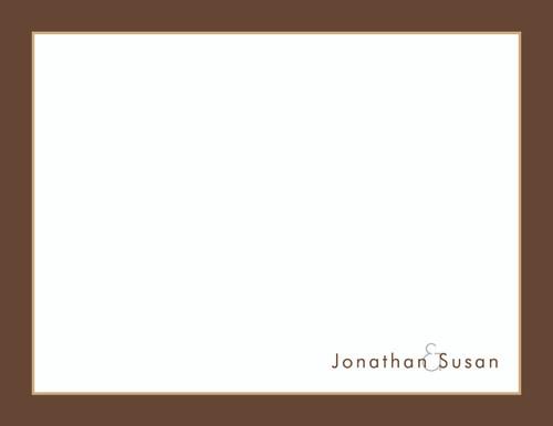Jonathan and Susan Bordered Flat Note