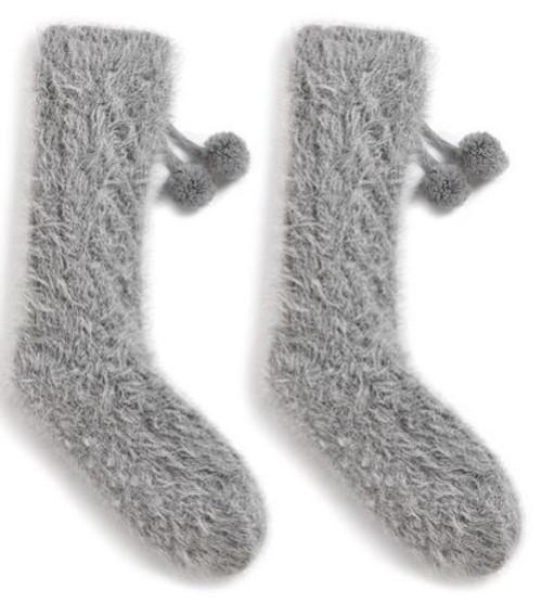 Dove Gray Slipper Socks