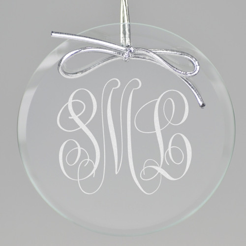 Circle Monogram Ornament
