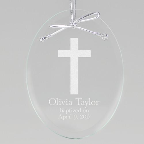 Baptism Cross Ornament