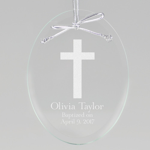 Baptism Cross Ornament