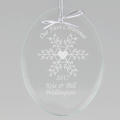 Snowflake First Christmas Ornament