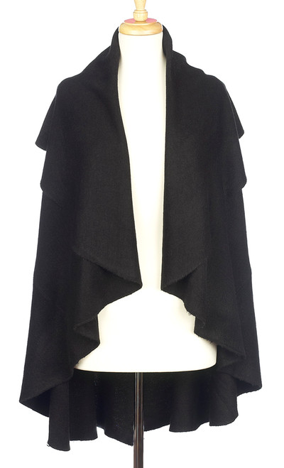 Black Shawl Vest