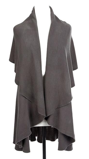 Gray Shawl Vest