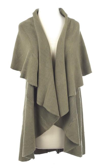 Green Shawl Vest