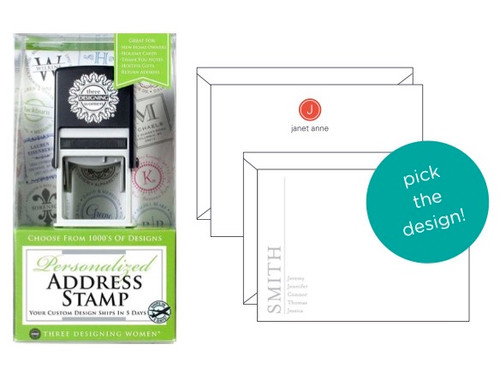 Address Stamp and Stationery Set