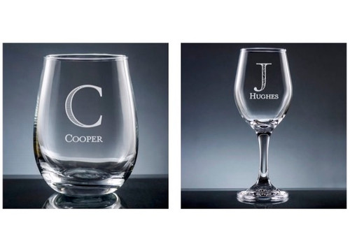 Custom Wine Glass Set