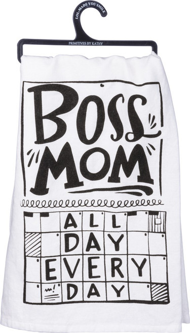 Boss Mom Dish Towel