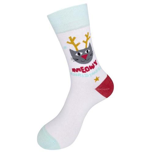 Meowy Christmas Socks