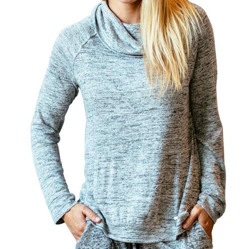 Gray Loungewear Cowl Neck