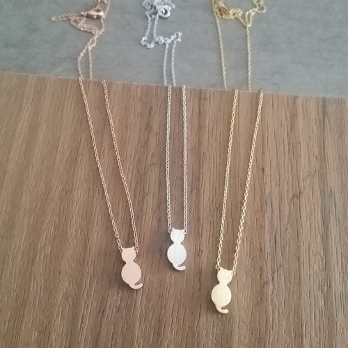 Cat Silhouette Necklace