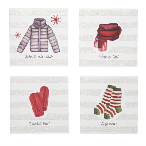 Winter Wear Enclosure Holiday Cards